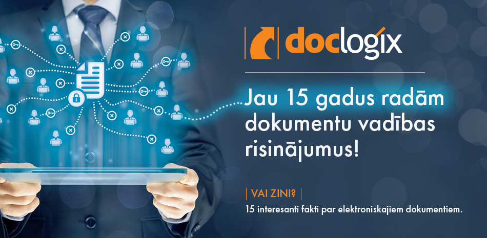 """DocLogix"" svin savu 15 gadu jubileju."